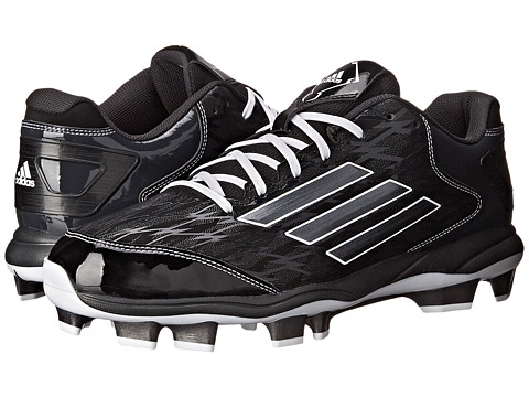 adidas - PowerAlley 2 TPU (Black/Carbon Metallic/Carbon) Men's Shoes