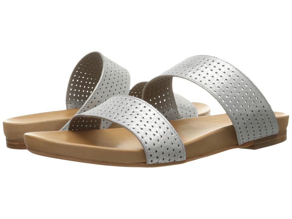 Johnston & Murphy Jodi Perfed Slide (Silver Italian Soft Metallic Suede) Women