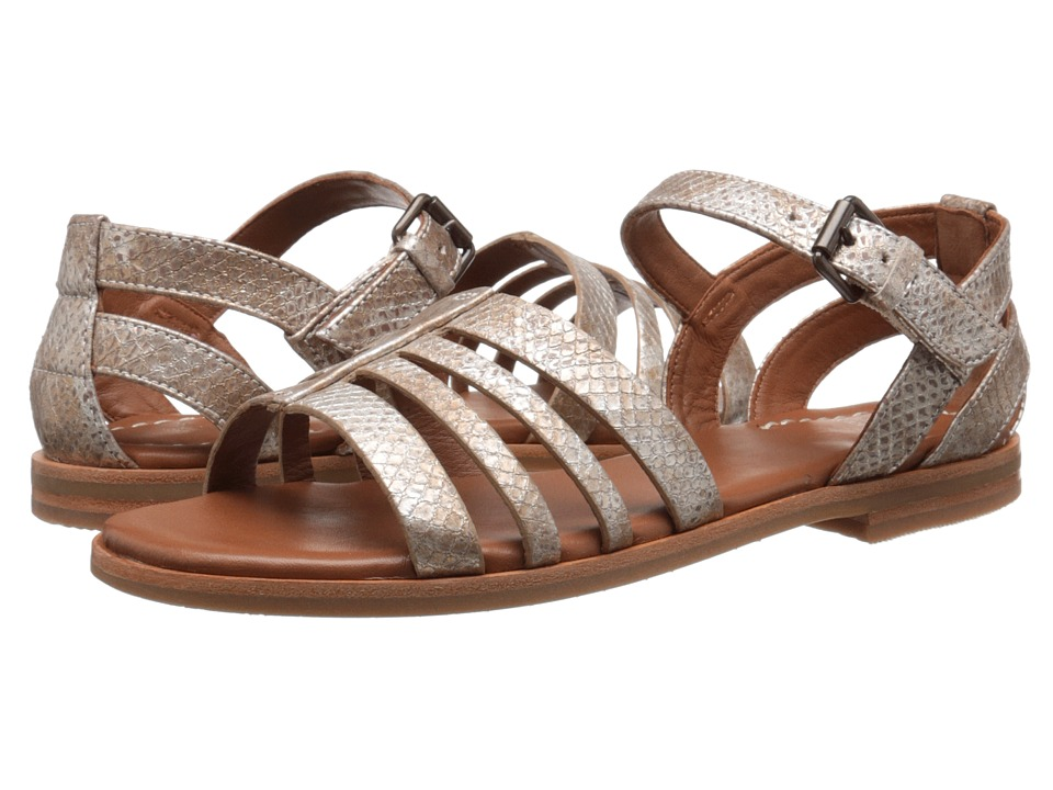 Johnston & Murphy - Laila Quarter Strap (Champagne Italian Metallic Snake Print) Women's Sandals