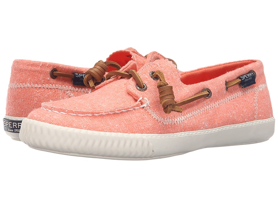 Sperry - Sayel Away Hemp Canvas (Coral) Women's Moccasin Shoes