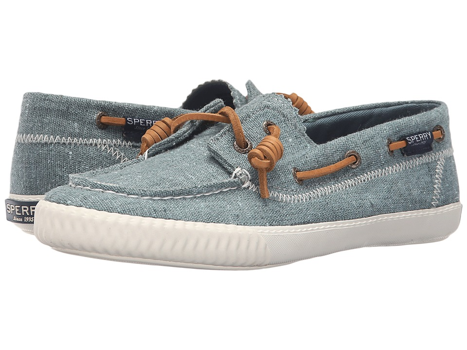 Sperry Top-Sider - Sayel Away Hemp Canvas (Dusty Teal) Women's Moccasin Shoes