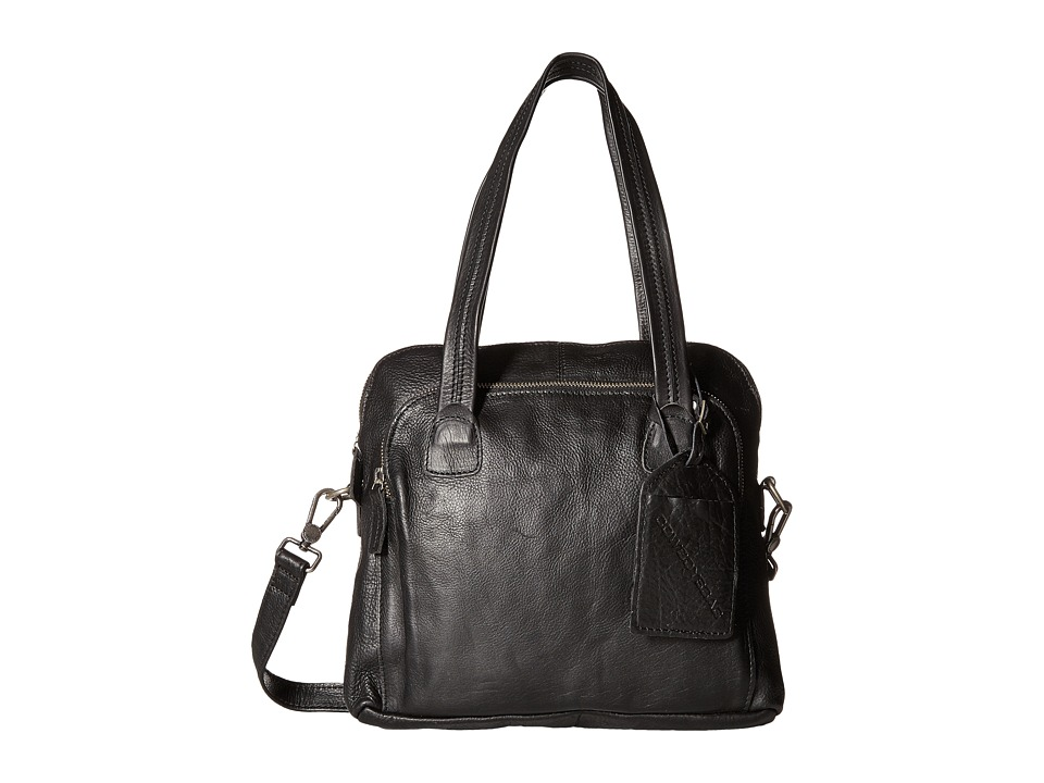 COWBOYSBELT - Livingston (Black) Satchel Handbags