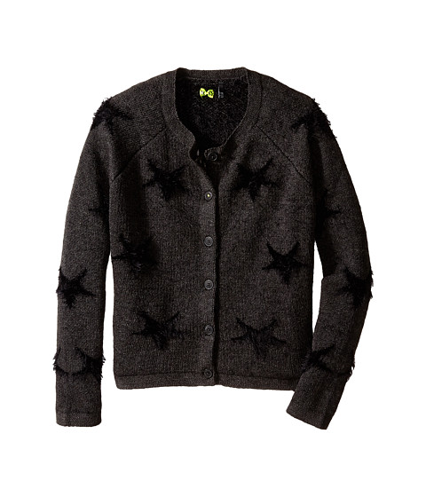 IKKS - Star Print Cardigan (Little Kids/Big Kids) (Anthracite Chine) Girl's Sweater