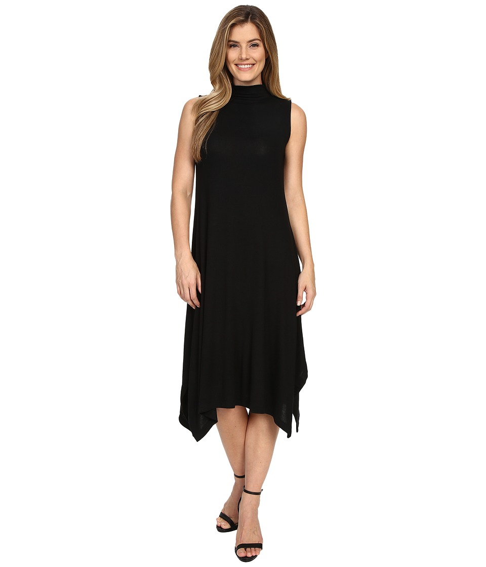 Nally & Millie - Sleeveless Midi Dress w/ Mock Neck (Black) Women's Dress