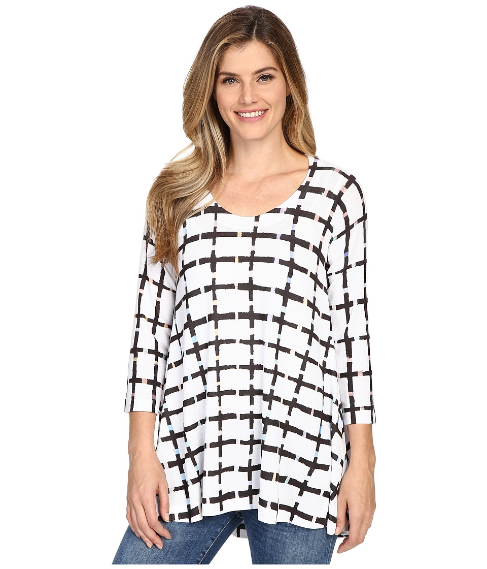 Nally & Millie - White Grid Tunic (Multi) Women's Clothing