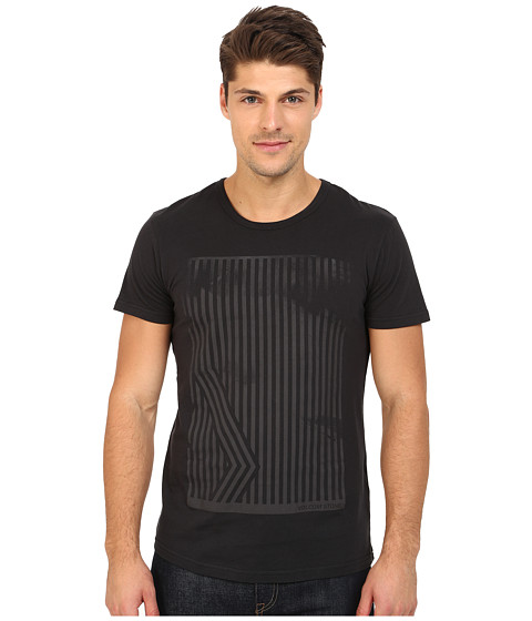 Volcom - Inter Short Sleeve Tee (Black) Men