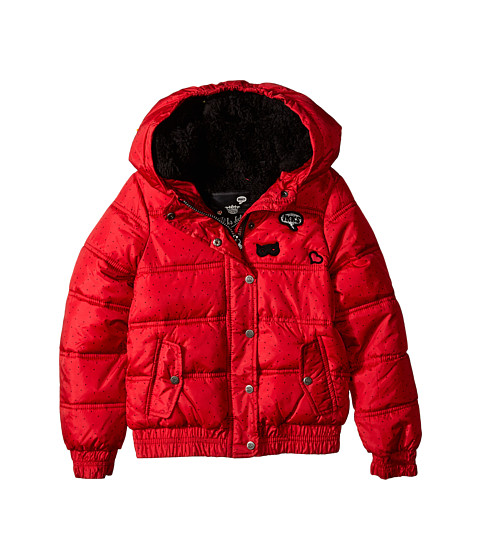IKKS - Polka Dot Jacket (Little Kids/Big Kids) (Rouge Lipstick) Girl's Coat