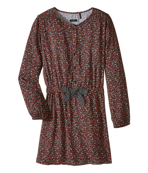 IKKS - Liberty Floral Print Long Sleeve 2-in-1 Dress (Little Kids/Big Kids) (Imprime Fleur Noir) Girl's Dress