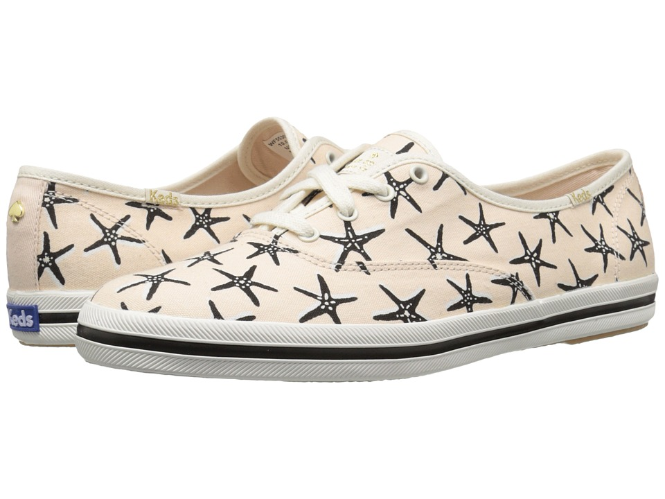 Kate Spade New York - Kick (Black Starfish Printed Canvas) Women's Lace up casual Shoes