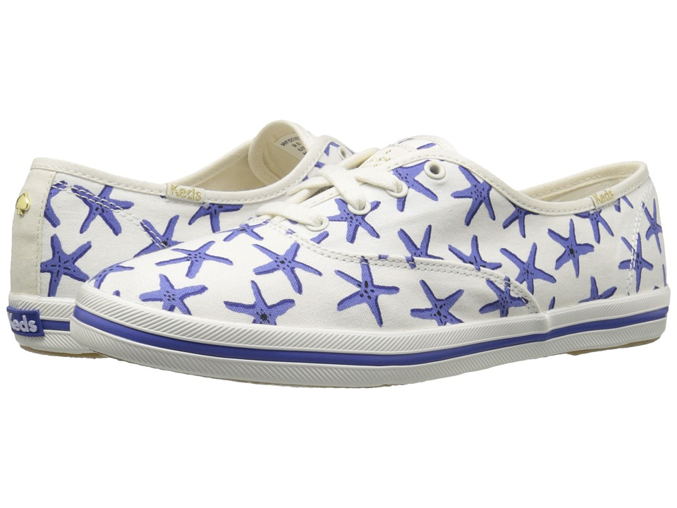 Kate Spade New York - Kick (Adventure Blue Starfish Printed Canvas) Women's Lace up casual Shoes