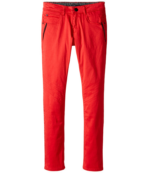 IKKS - Motorcycle Pants with Zippers (Little Kids/Big Kids) (Rouge City Back) Girl