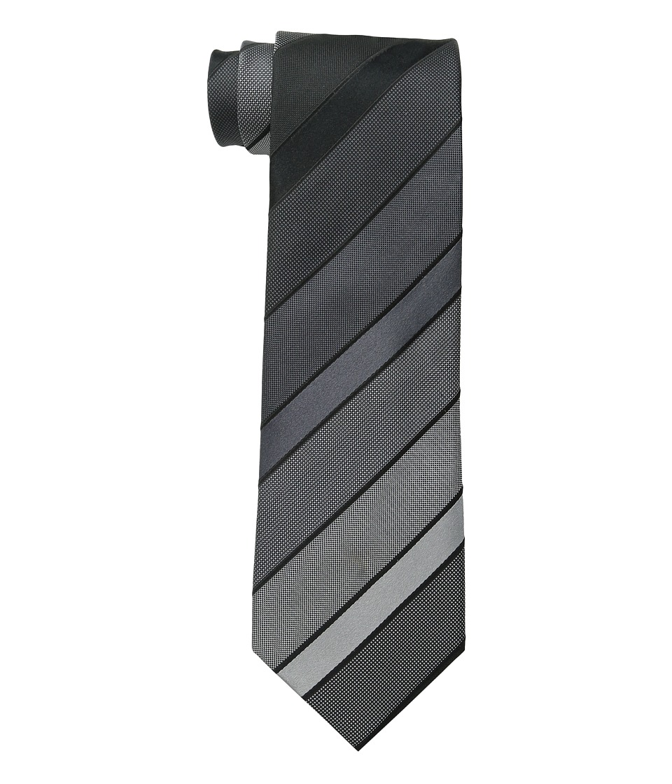 Kenneth Cole Reaction - Vermont Stripe (Black) Ties