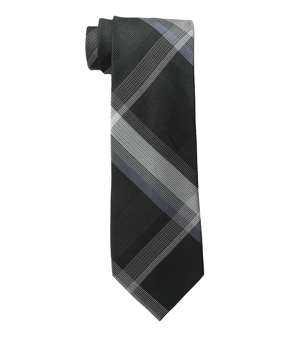 Kenneth Cole Reaction - Skyline Plaid (Black) Ties