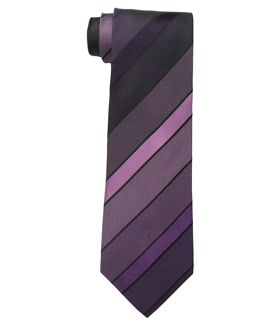 Kenneth Cole Reaction - Vermont Stripe (Plum) Ties