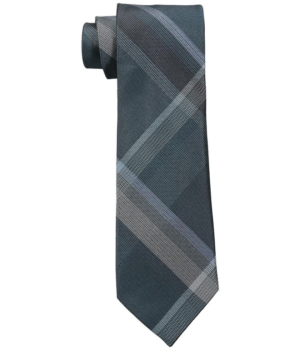 Kenneth Cole Reaction - Skyline Plaid (Teal) Ties