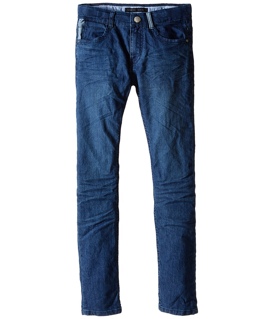 IKKS - Slim Fit Denim Pants with Cargo Print Pocket in Bleu (Little Kids/Big Kids) (Bleu) Boy's Jeans
