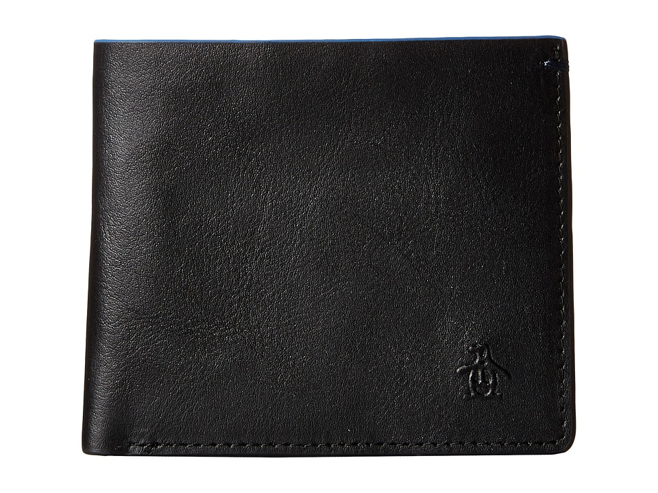 Original Penguin - Leather Bi-Fold Wallet (Black) Bi-fold Wallet