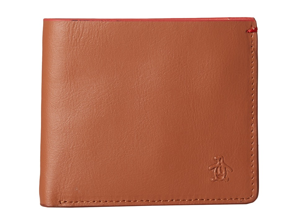 Original Penguin - Leather Bi-Fold Wallet (English Tan) Bi-fold Wallet