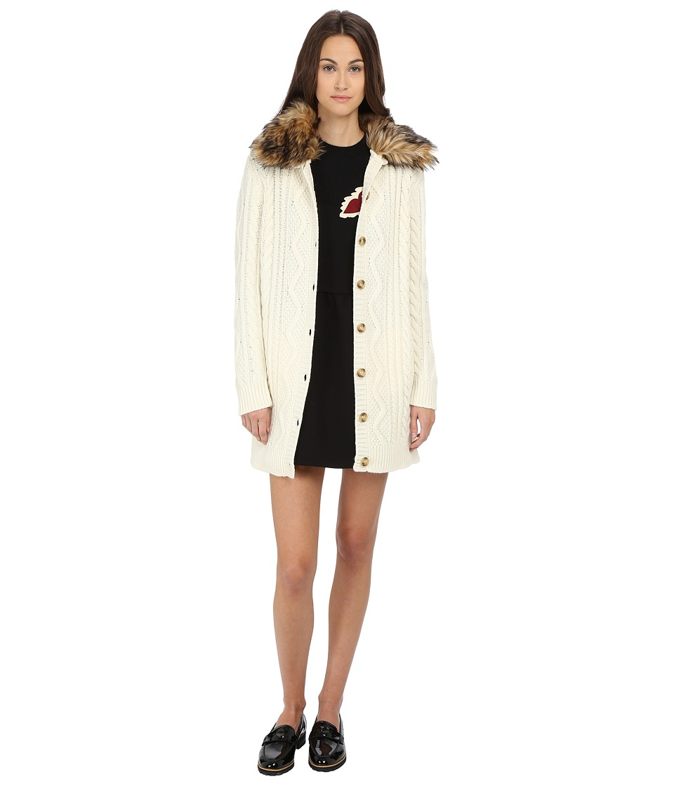 RED VALENTINO - Cappottino Maglia (Cream) Women's Coat