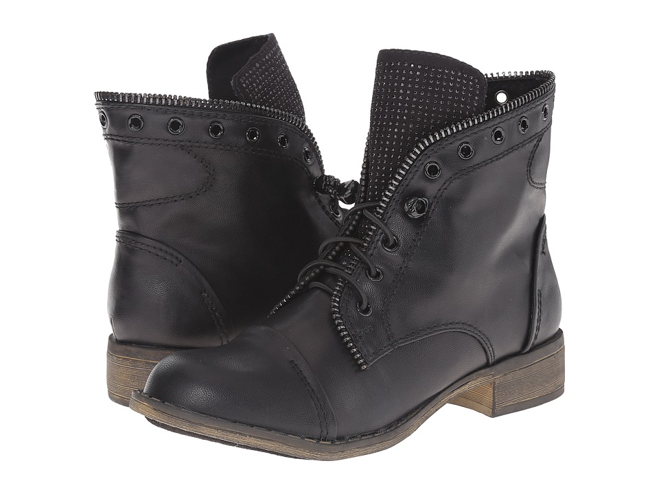 Report - Nyles (Black) Women's Lace-up Boots