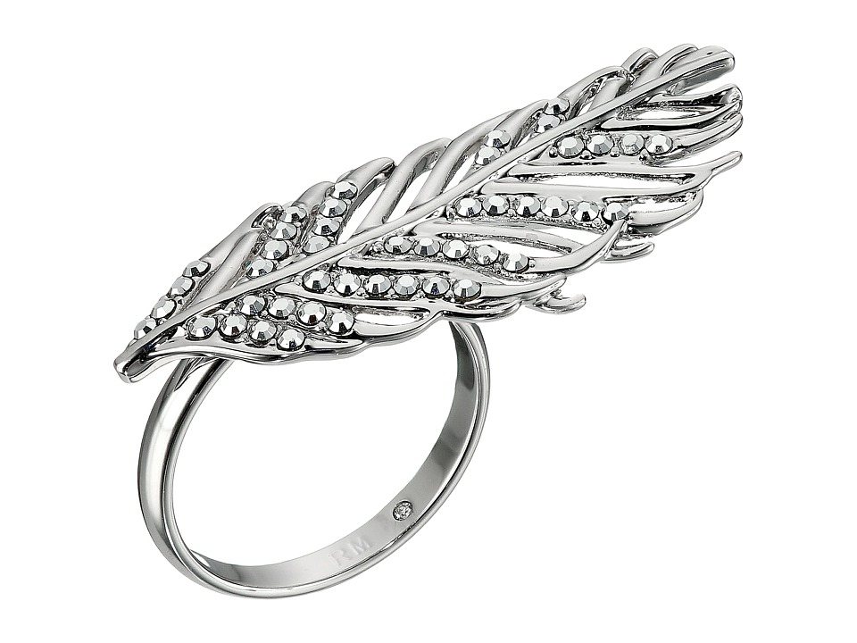 Rebecca Minkoff - Feather Knuckle Duster Ring (Imitation Rhodium/Crystal Lab) Ring