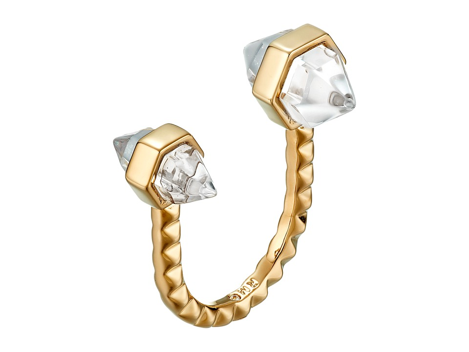 Rebecca Minkoff - Rock U Ring (Gold Toned/Crystal) Ring