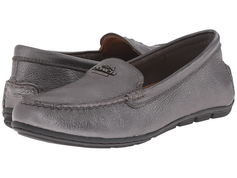 COACH - Mary Lock Up (Gunmetal Metallic Tumbled) Women's Slip on Shoes
