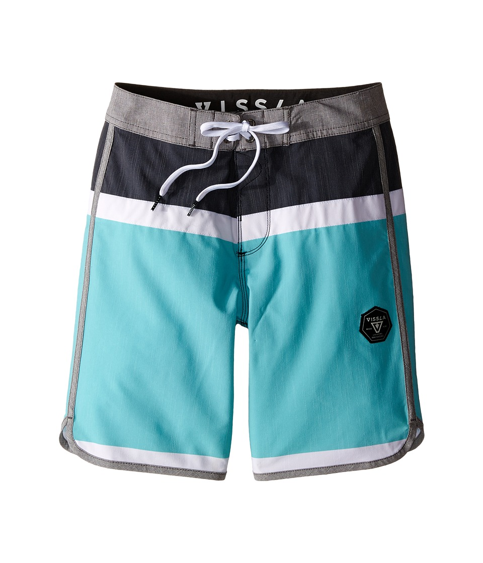 VISSLA Kids - Dredges 4-Way Stretch Boardshorts 17 (Big Kids) (Black) Boy's Swimwear