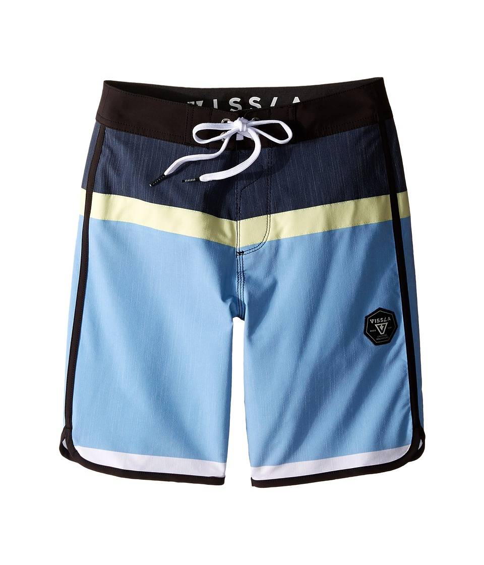 VISSLA Kids - Dredges 4-Way Stretch Boardshorts 17 (Big Kids) (Coastal Blue) Boy's Swimwear