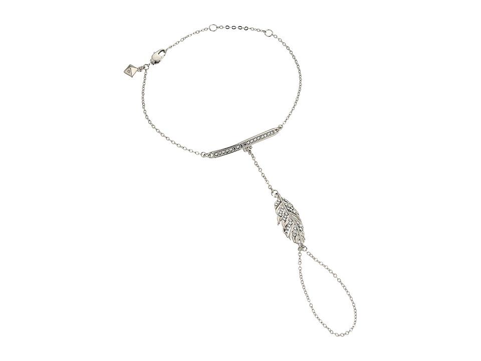 Rebecca Minkoff - Feather Hand Chain Bracelet (Imitation Rhodium/Crystal Lab) Bracelet