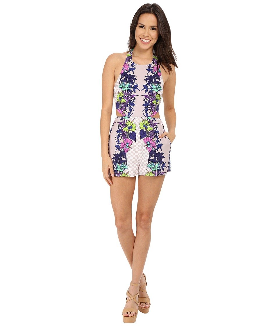 Mara Hoffman - Jardin Tie Back Cut Out Romper (Stone) Women's Jumpsuit & Rompers One Piece