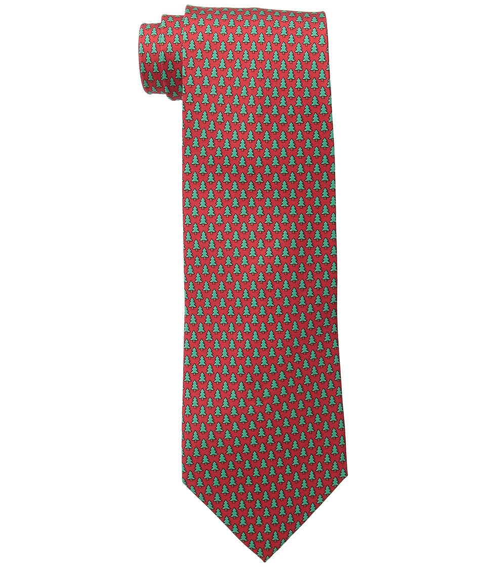 Tommy Hilfiger - Christmas Tree Micro Print (Red) Ties