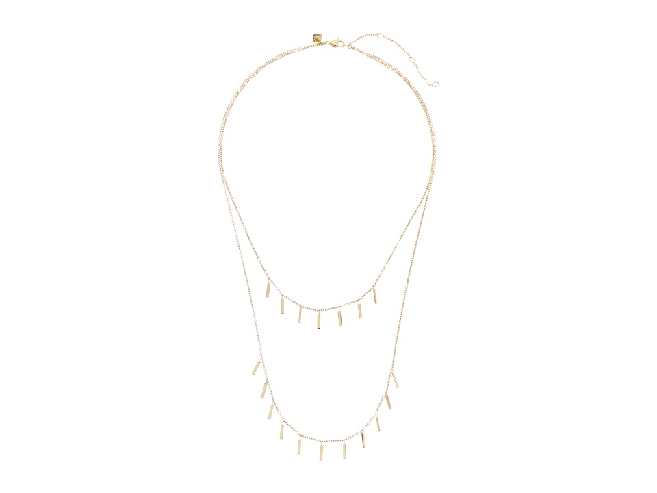 Rebecca Minkoff - Layered Bar Fringe Necklace (Gold Toned) Necklace