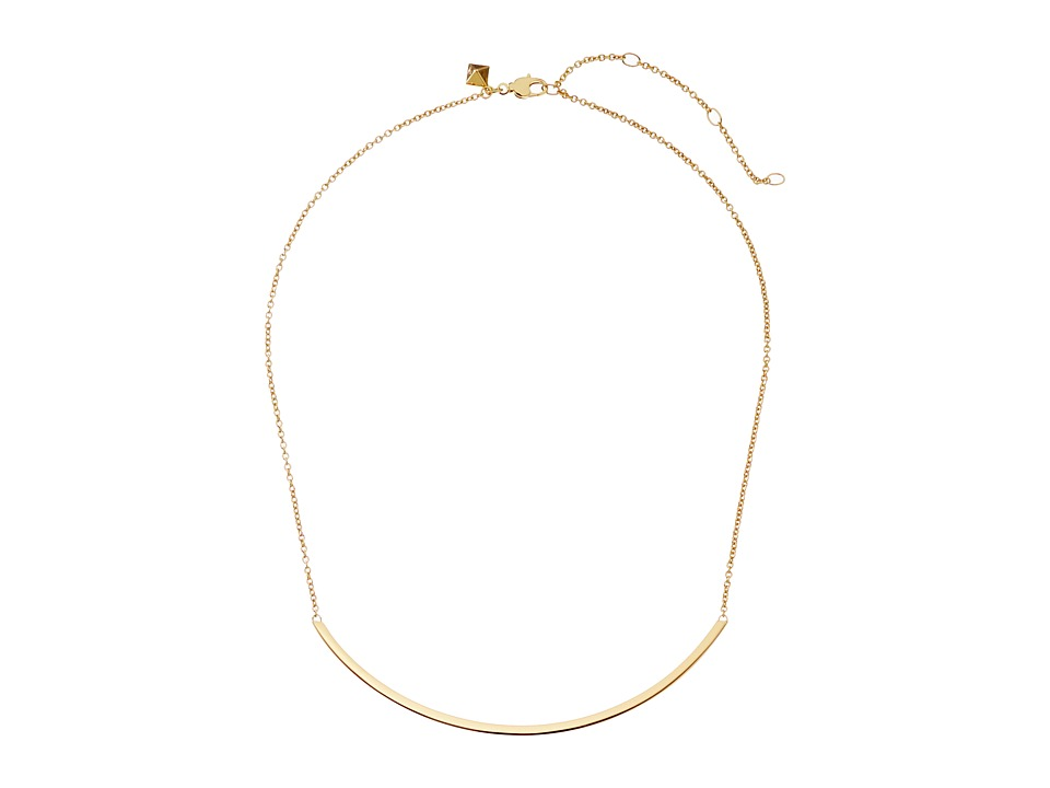 Rebecca Minkoff - Curved Bar Necklace (Gold Toned) Necklace