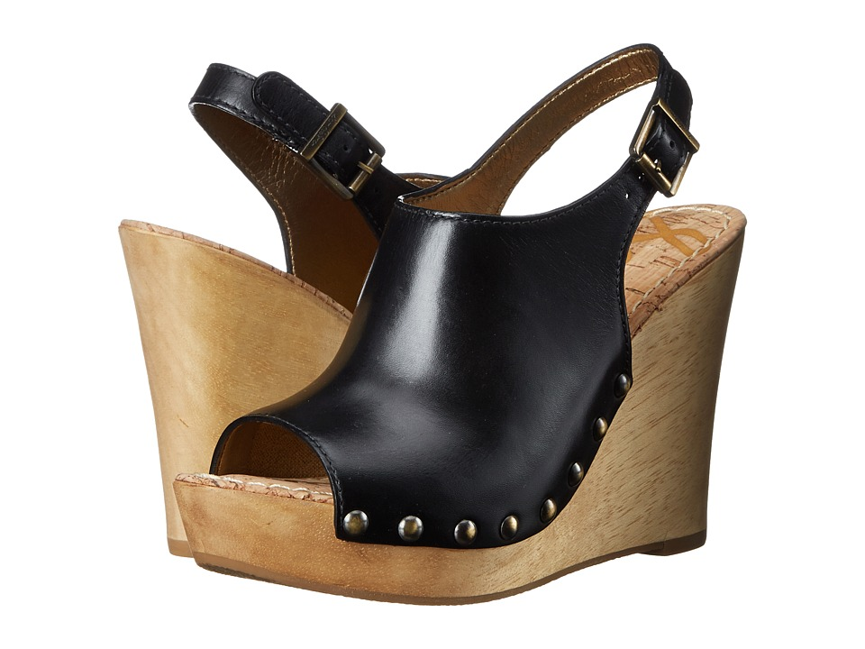 Sam Edelman - Camilla (Black/Leather) Women's Wedge Shoes