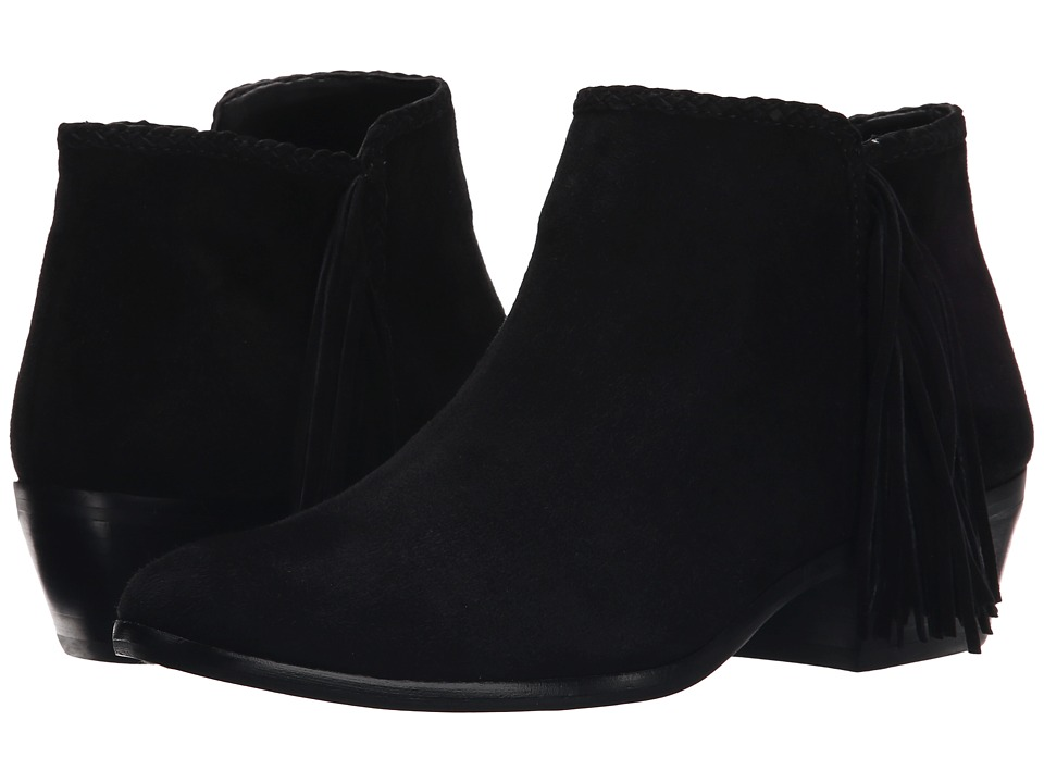 Sam Edelman - Paige (Black Kid Suede Leather) Women's Zip Boots