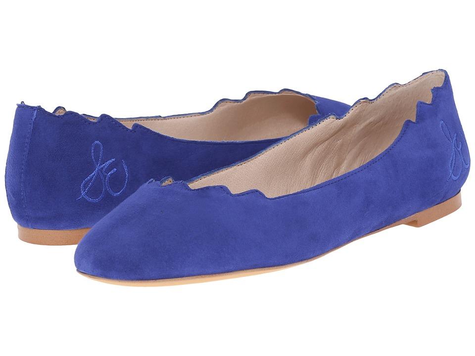 Sam Edelman Augusta Sailor Blue Kid Suede Leather Flat Shoes