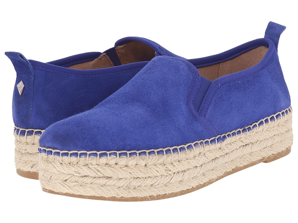 Sam Edelman - Carrin (Sailor Blue Kid Suede Leather) Women's Slip on Shoes