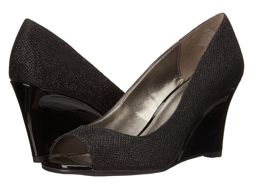 Bandolino - Jamila (Black Fabric 1) Women's Wedge Shoes