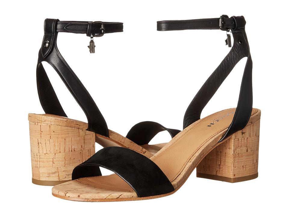 COACH - Thompson (Black/Black Suede/Matte Calf) Women's Sandals