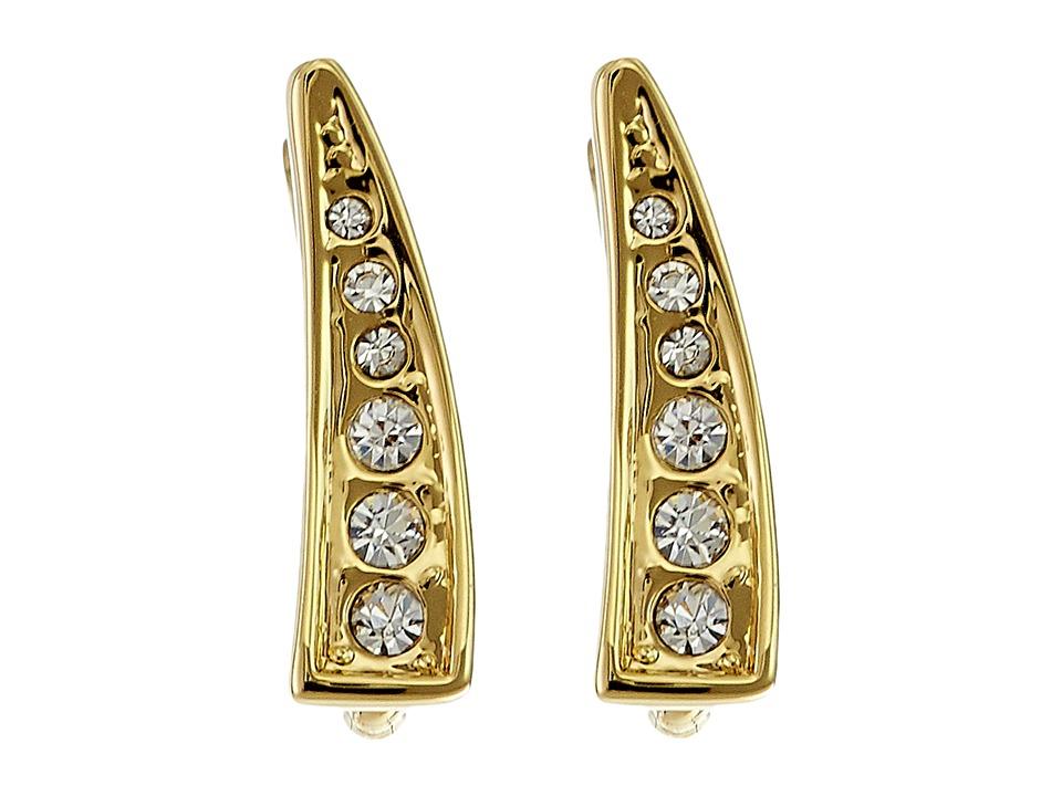 Rebecca Minkoff - Mini Pave Ear Climber Earrings (Gold Toned/Crystal) Earring