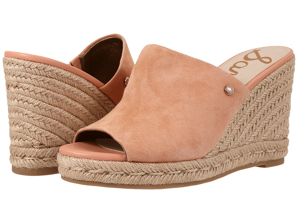 Sam Edelman - Bonnie (Papaya Punch Velour Suede) Women's Wedge Shoes