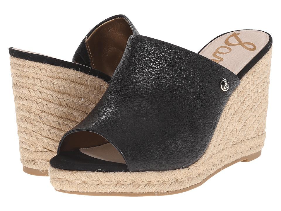 Sam Edelman - Bonnie (Black Matte Ontario Leather) Women's Wedge Shoes