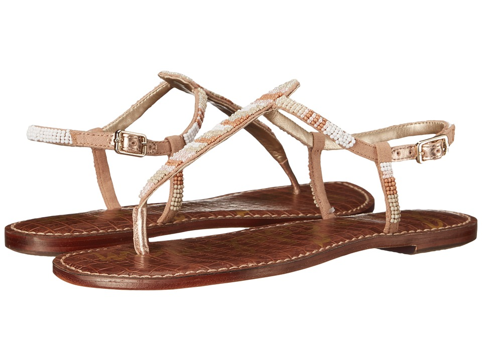 Sam Edelman - Gail (Bright White/Classic Nude Multi Beads) Women's Sandals