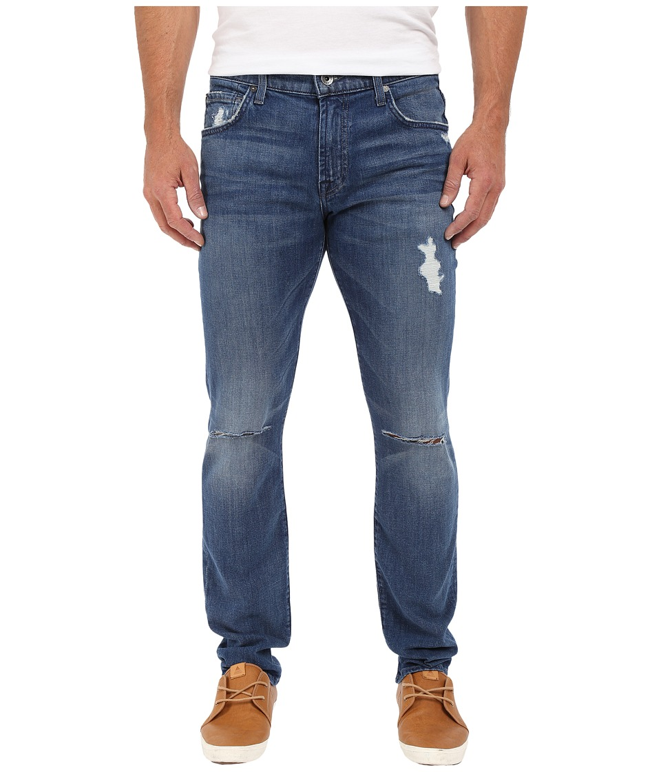 7 For All Mankind - Paxtyn Skinny w/ Clean Pocket in Bandit (Destroyed) (Bandit (Destroyed)) Men