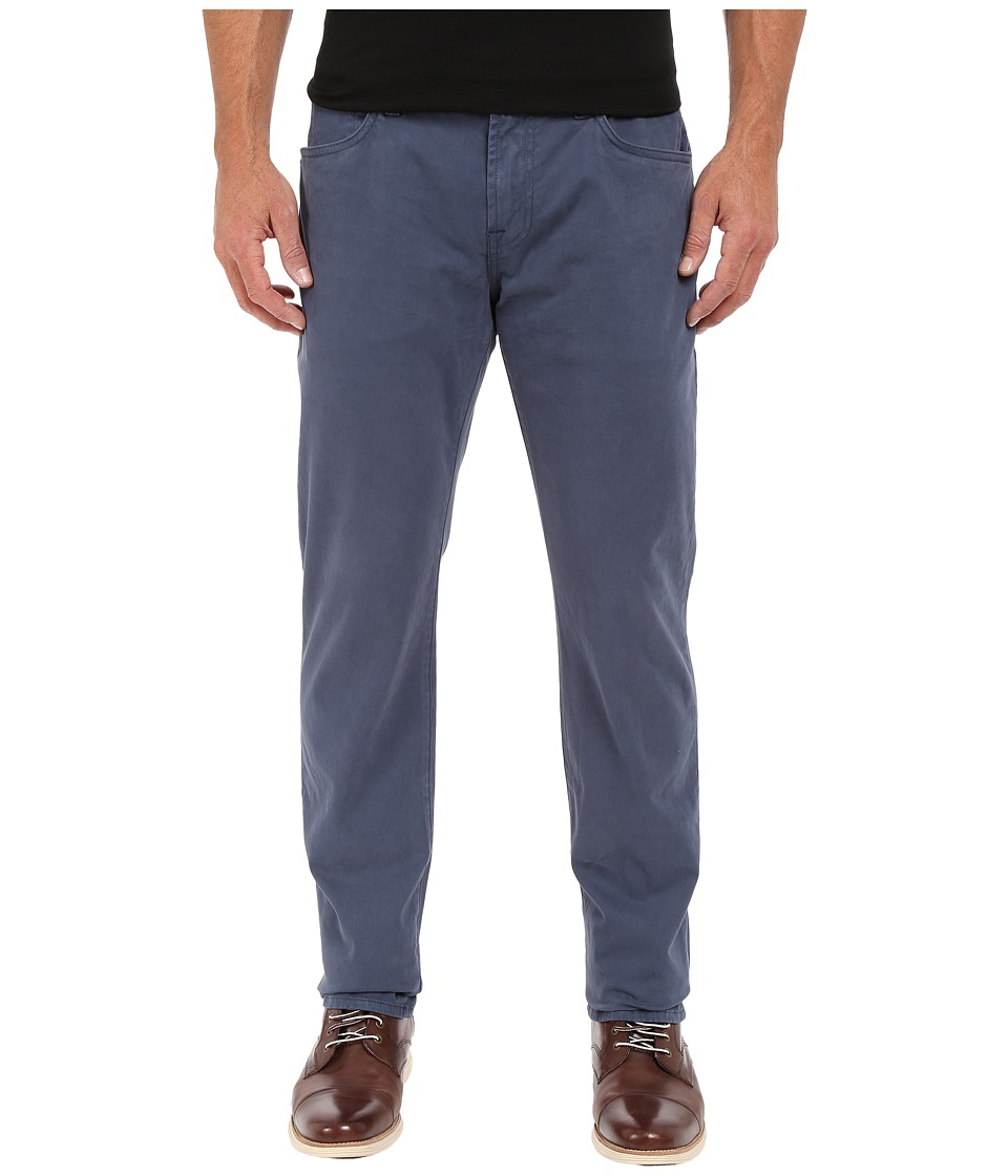 7 For All Mankind - The Straight-Luxe Performance Sateen in Slate Blue (Slate Blue) Men's Jeans