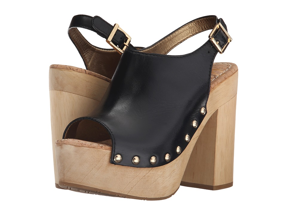 Sam Edelman - Marley (Black Vaquero Saddle Leather) High Heels