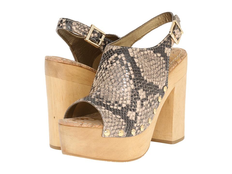 Sam Edelman - Marley (Natural Shiny Burmese Python Print Leather) High Heels