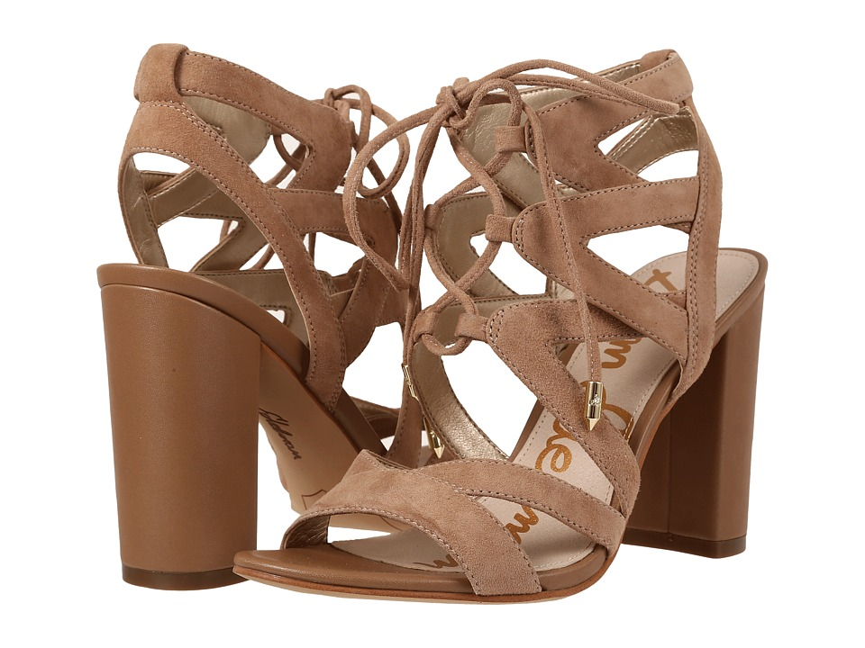 Sam Edelman - Yardley (Golden Caramel Kid Suede Leather) High Heels