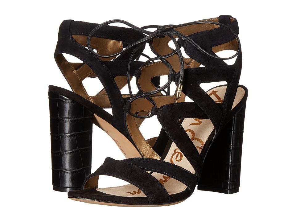 Sam Edelman - Yardley (Black Kid Suede Leather) High Heels